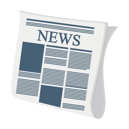 A Newspaper with NEWS headline